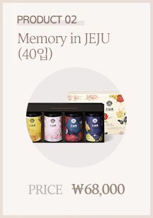 product 02. Memory in JEJU (40입). PRICE. ₩68,000